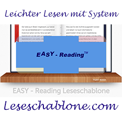 Die Easy Reading Leseschablone hilft beim Lesen lernen und bei Leseproblemen