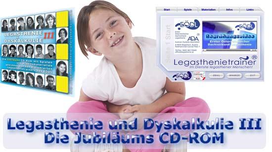 Legasthenie und Dyskalkulie III die CD-ROM